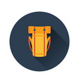 flat design icon of camping backpack vector image vector image