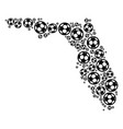 florida map mosaic of football balls vector image vector image