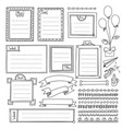 frames with weekdays for bullet journal vector image vector image