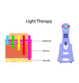 gadget for light therapy and chart vector image vector image