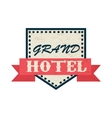 Grand hotel icon vintage style vector image vector image