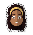 happy dark skin young pretty woman cartoon icon vector image vector image