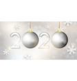 happy new year bauble banner vector image vector image