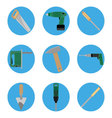 Icon construction tools set vector image