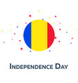 independence day of romania patriotic banner vector image vector image