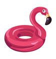 inflatable balloon or lifebuoy pink flamingo vector image