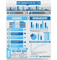INFOGRAPHICS CITY BLUE vector image vector image