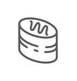 layered glazed round cake pixel perfect icon vector image vector image