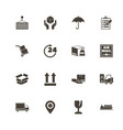 logistics - flat icons vector image