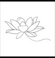 lotos flower vector image