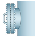 Manhole side view vector image vector image