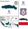 Map of Gorontalo vector image vector image