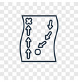 military strategy sketch concept linear icon vector image