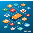 Mobile applications isometric icons vector image vector image
