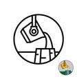 molten metal industry logo liquid iron or steel vector image