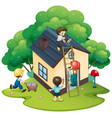 people building house together vector image vector image