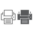 printer line and glyph icon office and work vector image vector image