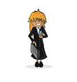 Profession businesswoman cartoon figure vector image vector image