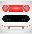 realistic skateboard template vector image vector image