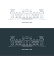Reichstag building logo concept vector image