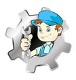 repairman symbol vector image vector image