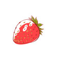 ripe strawberry isolated icon vector image vector image