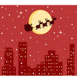 Santa and reindeer cartoon vector image vector image