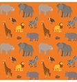 seamless pattern with cartoon african animals vector image vector image