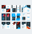 set 10 double sided business card templates vector image