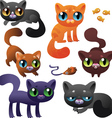 set cats vector image vector image