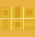 set golden glitter background and square frame vector image vector image