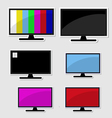 Set of televison banner vector image