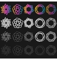 set outline emblems and badges vector image