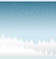 snow and winter season background with forest vector image vector image