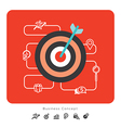 Success Business Concept Icons with Target vector image