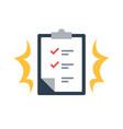 task management check list efficient work vector image