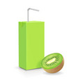 the carton package kiwi juice isolated vector image vector image