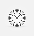 time outline icon clock concept symbol vector image