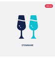 two color stemware icon from food concept vector image vector image