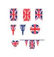 uk union jack flag vector image vector image