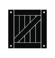 Wooden box black simple icon vector image vector image