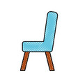 Wooden chair isolated icon