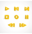 Record pause stop and play buttons vector image