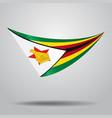 zimbabwean flag background vector image
