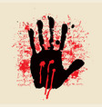 abstract banner with a handprint and red spots vector image vector image