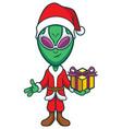 alien santa claus vector image vector image