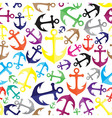 Anchor seamless background vector image vector image
