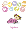 baby girl crawling vector image vector image