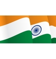 Background with waving Indian Flag vector image vector image
