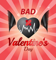 Bad valentines day vector image vector image
